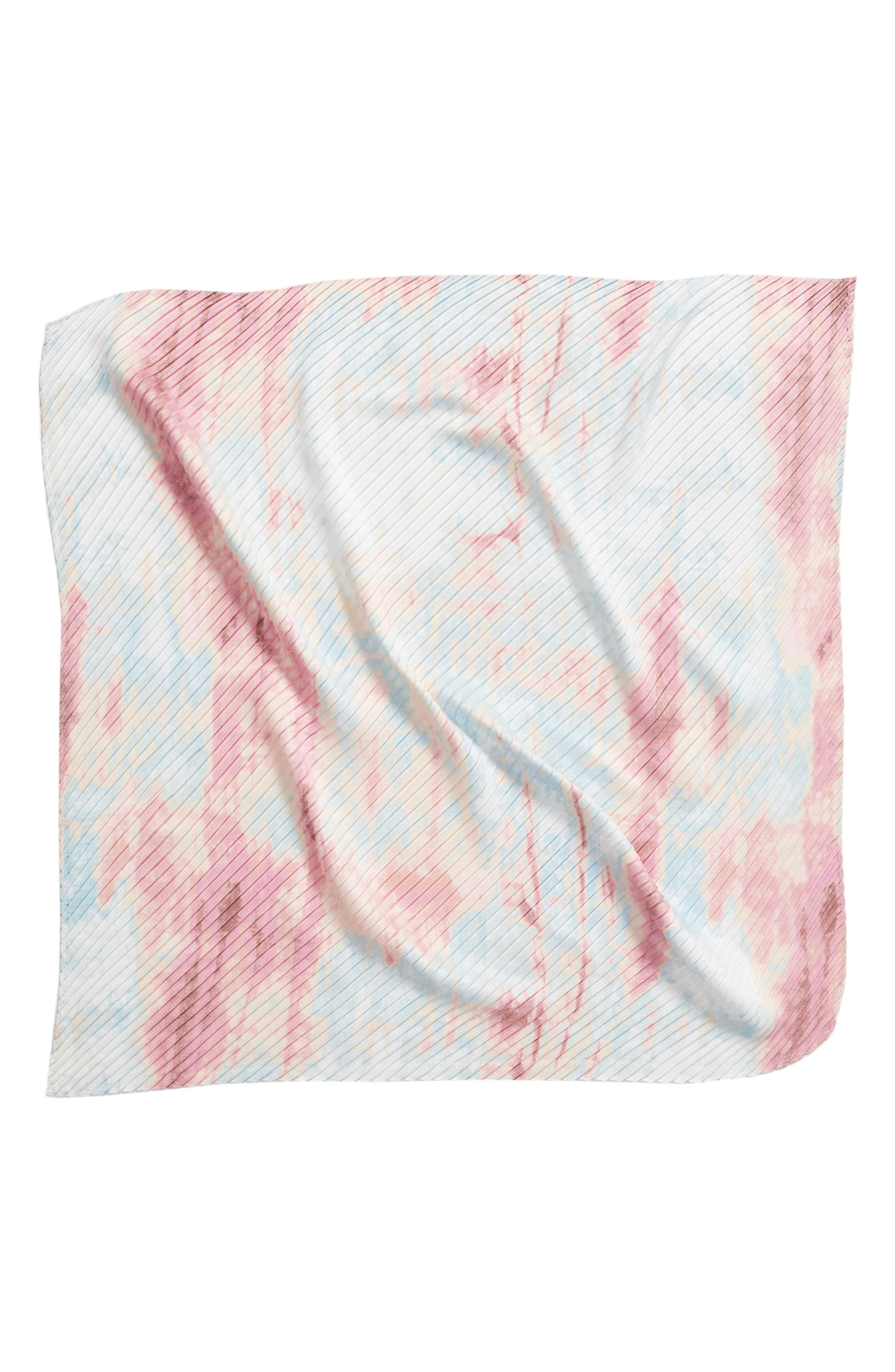 ,                             Pleated Square Scarf,                             Alternate thumbnail 7, color,                             680