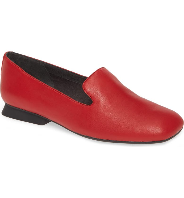 CAMPER Casi Myra Loafer, Main, color, RED LEATHER