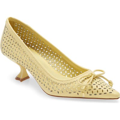 Jeffrey Campbell Fayre Pointed Toe Pump, Yellow