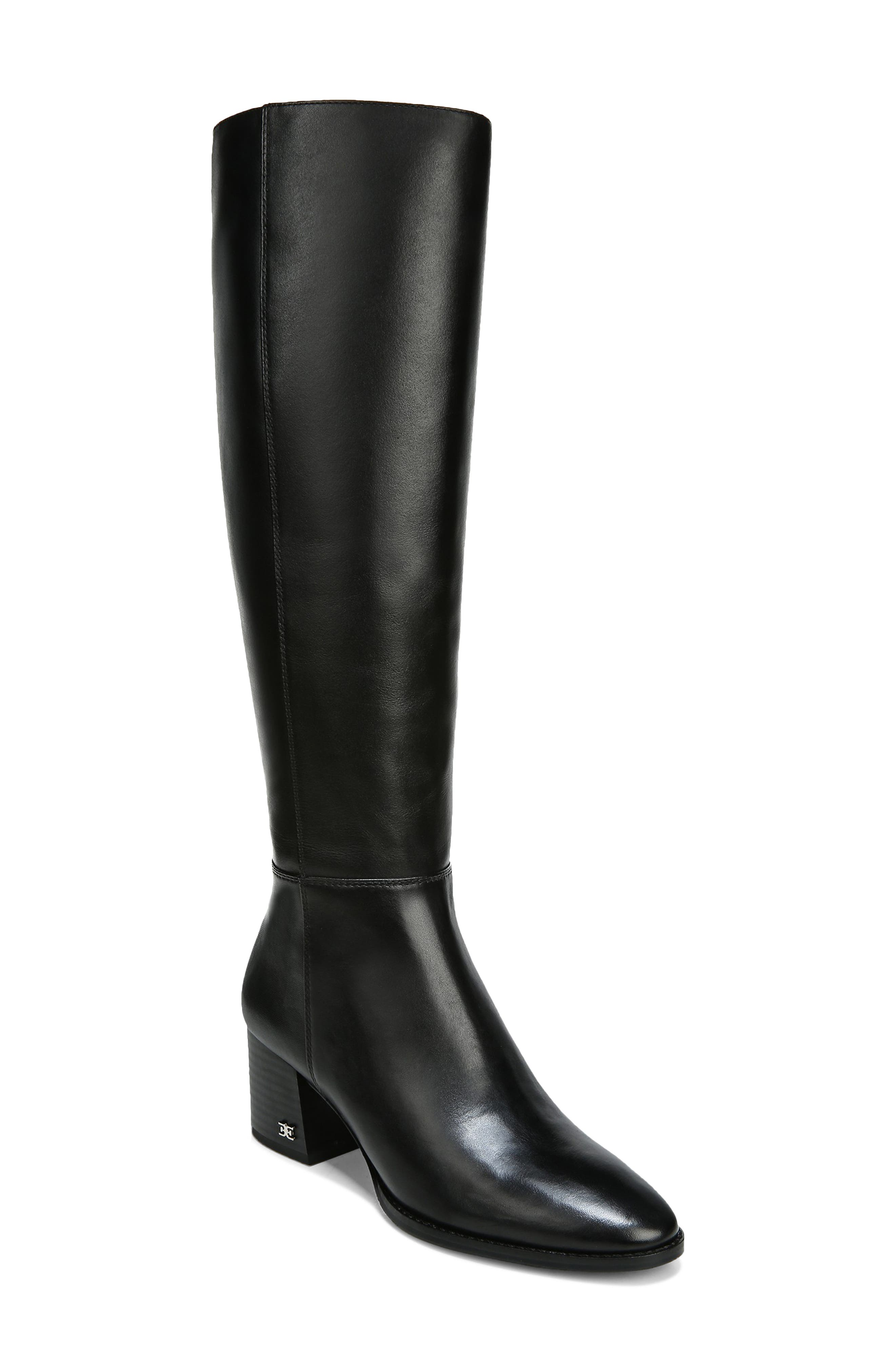 Refine your look with this knee-high boot fashioned from burnished leather and set on a bold block heel. Style Name: Sam Edelman Kerby Knee High Boot (Women). Style Number: 6084891. Available in stores.
