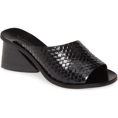 Mercedes Castillo Izar Slide Sandal, Black