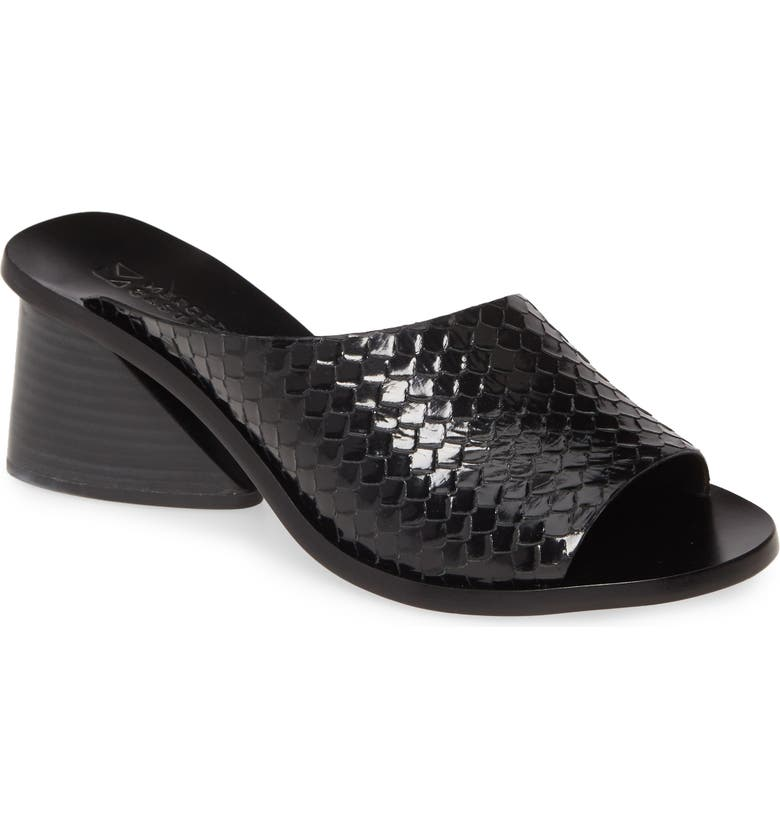 MERCEDES CASTILLO Izar Slide Sandal, Main, color, BLACK SNAKE PRINT