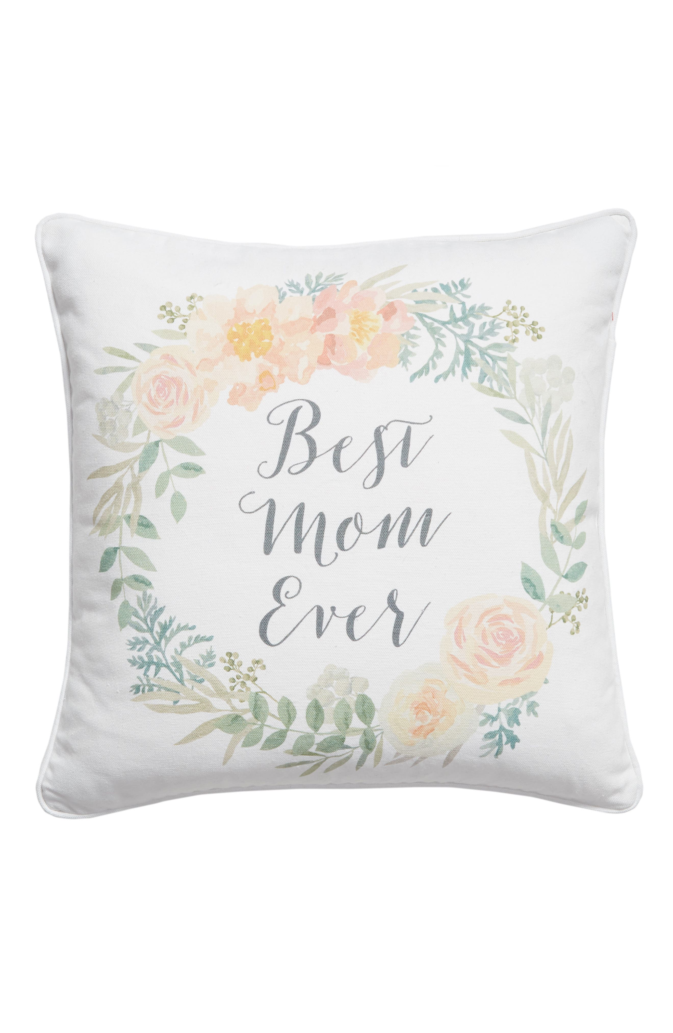 Best Mom Ever Accent Pillow, Main, color, 900