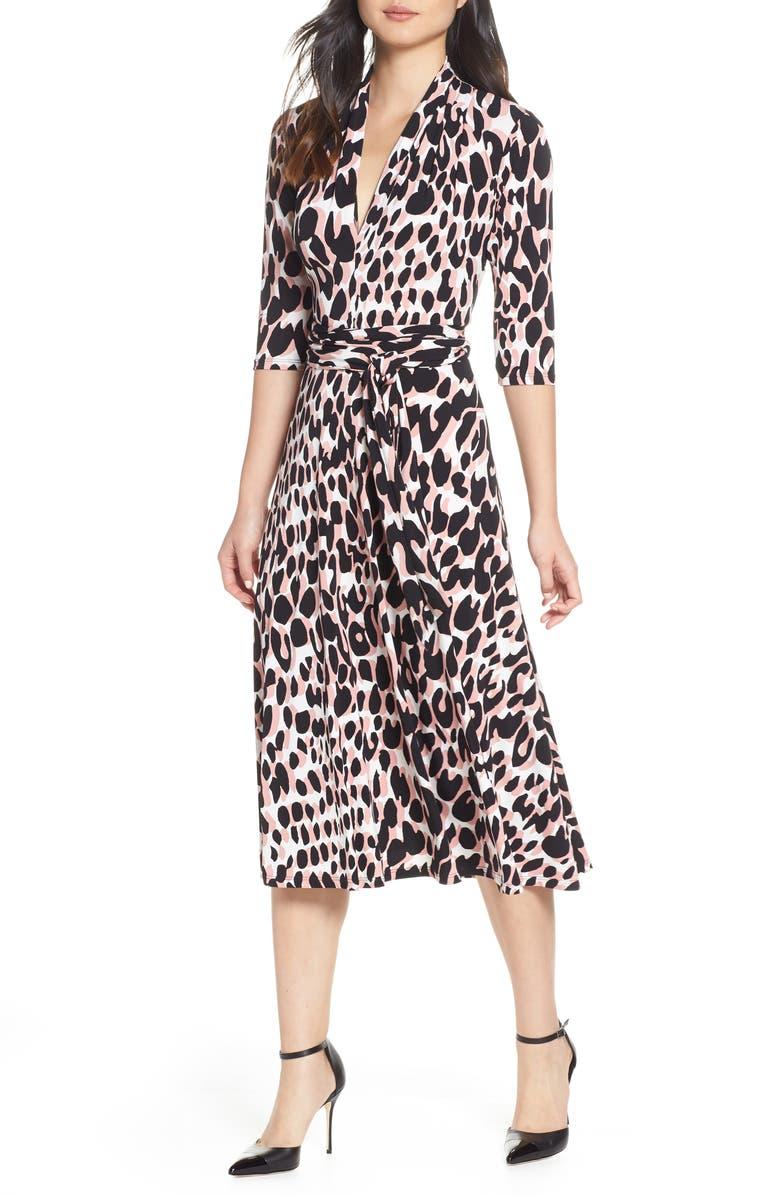 LEOTA Mahlia V-Neck Jersey Dress, Main, color, 691