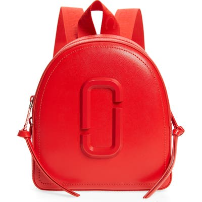 Marc Jacobs Pack Shot Leather Backpack - Red