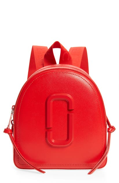 Marc Jacobs Backpacks PACK SHOT LEATHER BACKPACK - RED
