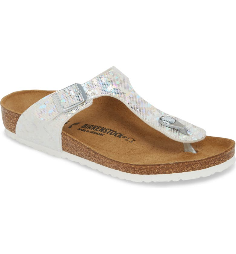 BIRKENSTOCK Gizeh Hologram Thong Sandal, Main, color, 045