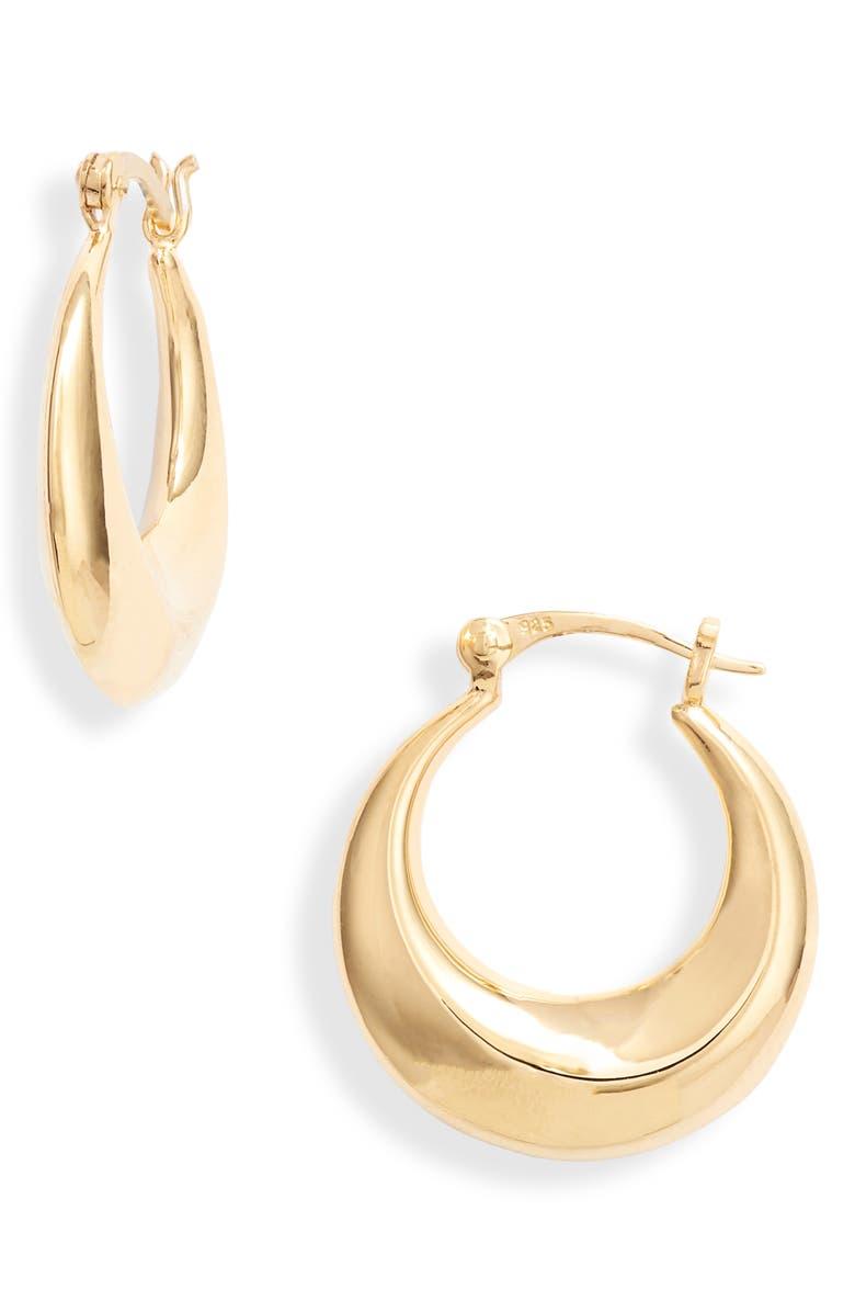 ARGENTO VIVO STERLING SILVER Argento Vivo Hoop Earrings, Main, color, GOLD