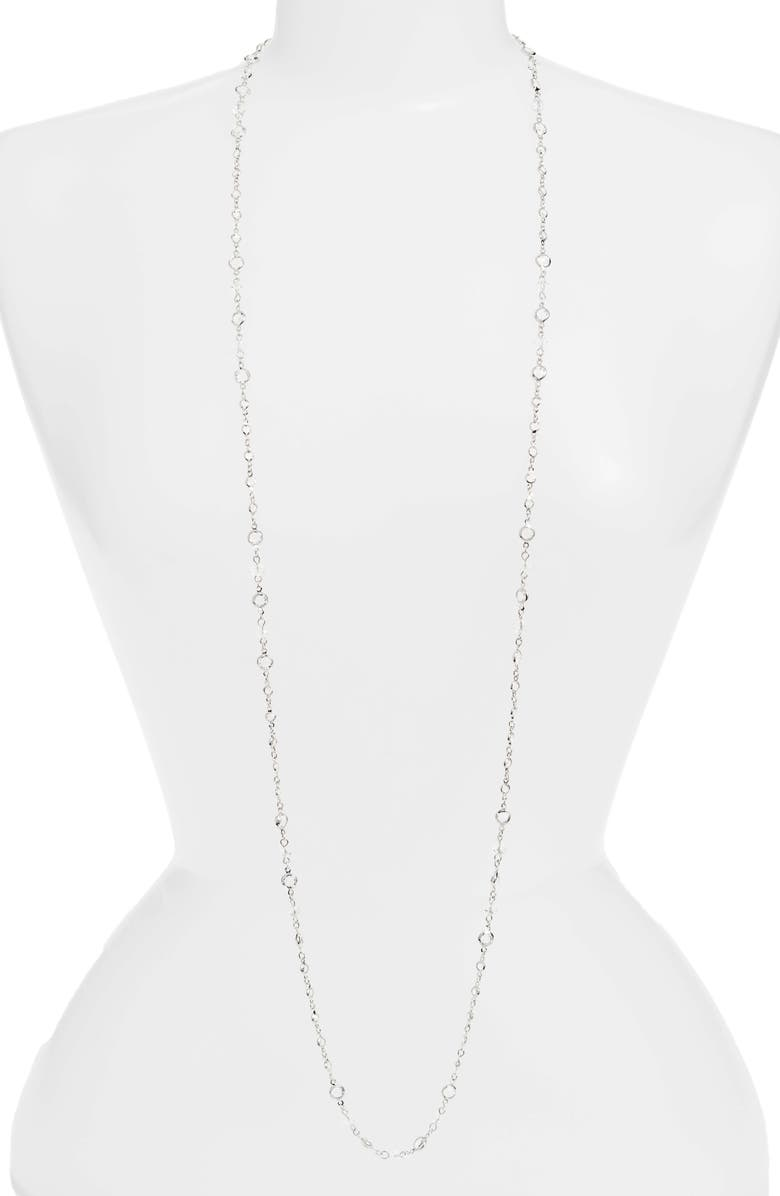 CRISTABELLE Crystal Necklace, Main, color, CRYSTAL/ SILVER