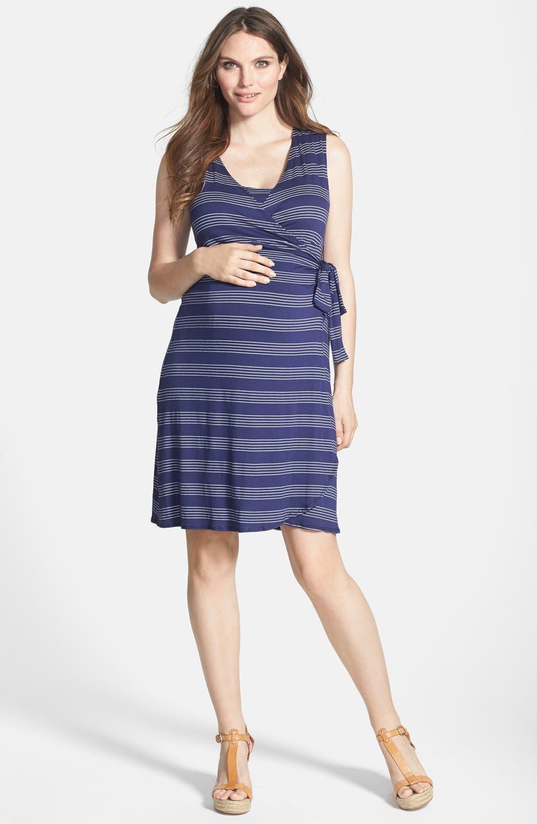 Sleeveless Wrap Maternity/Nursing Dress, Main, color, 460