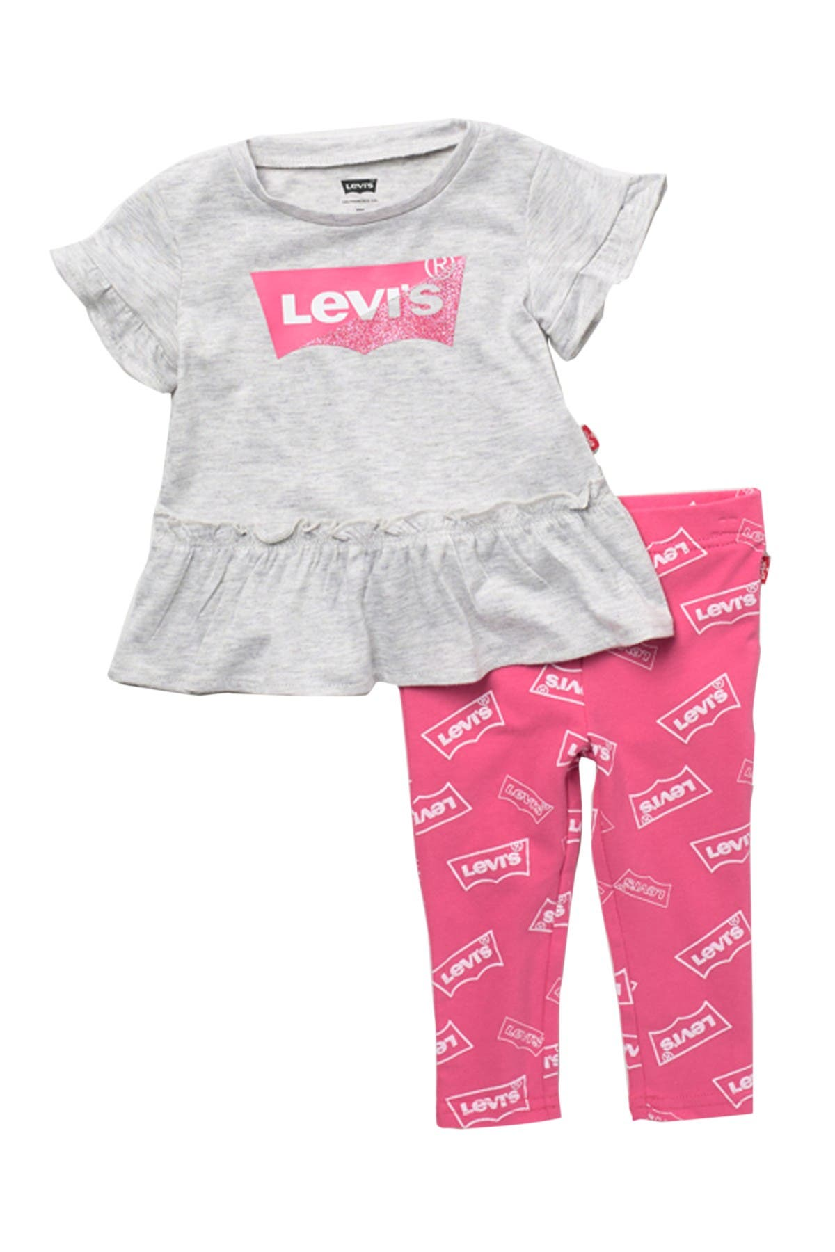 Image of Levi's Ruffle Tunic Top & Leggings Set