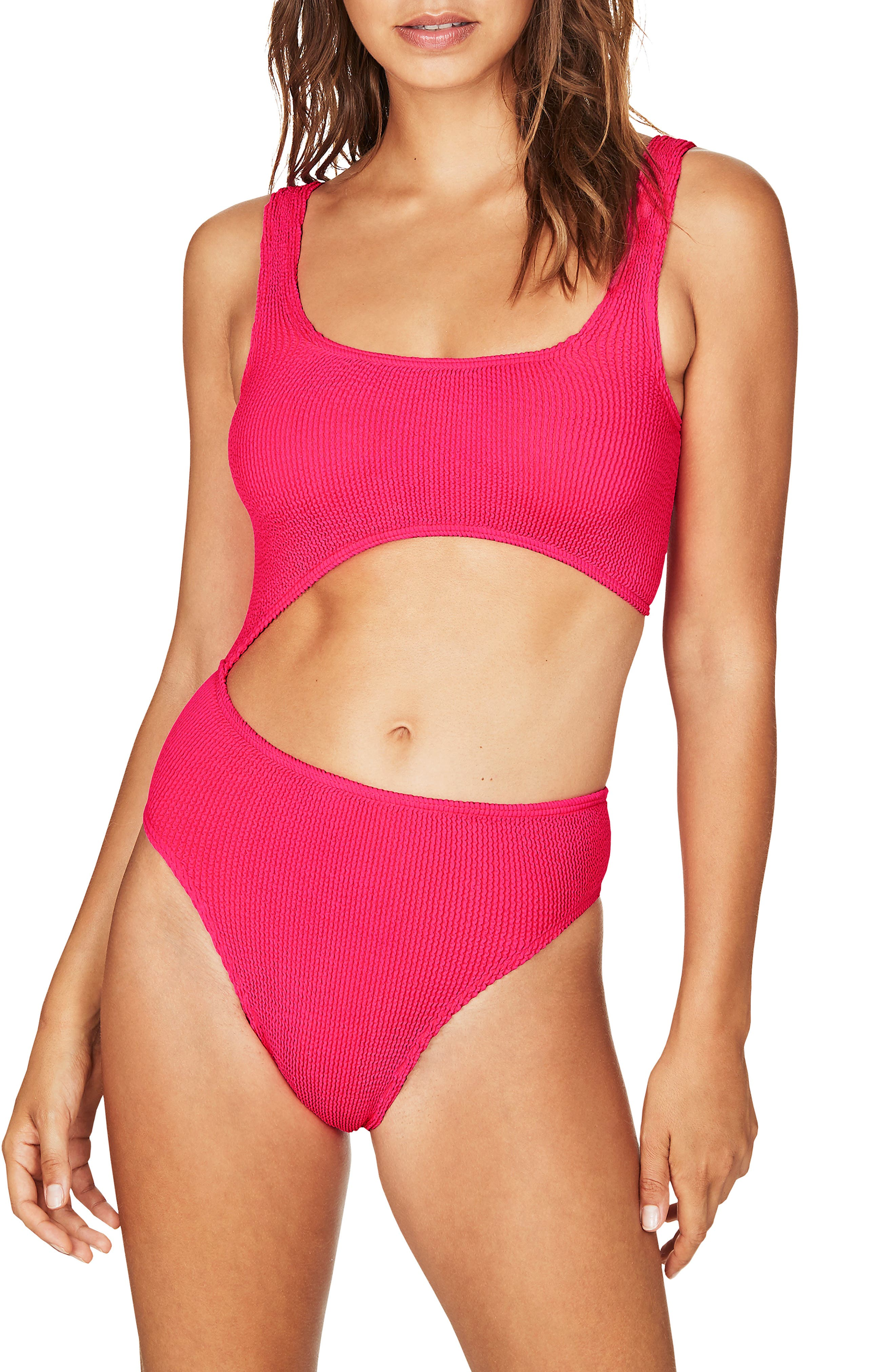 Bound By Bond-Eye The Maya One-Piece Swimsuit, Size One Size - Pink