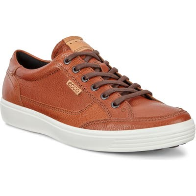 Ecco Soft 7 Long Lace Sneaker,8.5 - Brown