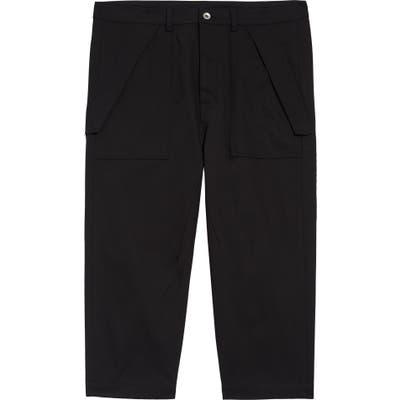 Rick Owens Drkshdw Crop Cargo Pants, Black