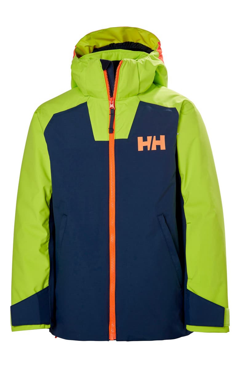 HELLY HANSEN Twister Waterproof Insulated Hooded Ski Jacket, Main, color, NORTH SEA BLUE