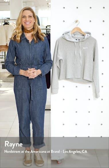Sportswear Rib Cotton Crop Hoodie, sales video thumbnail