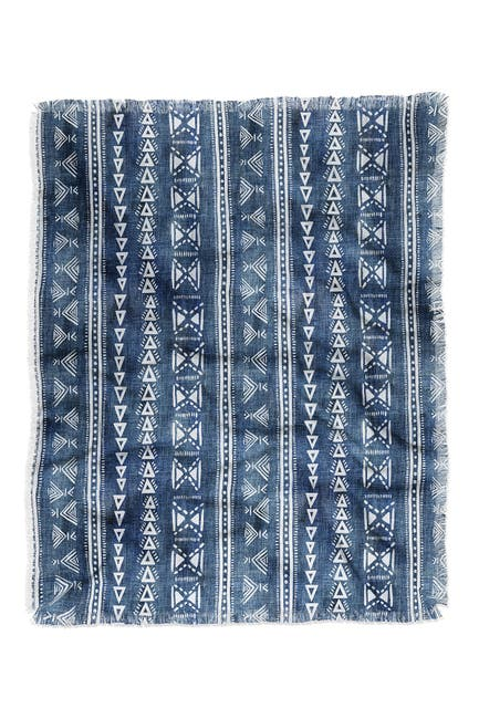 Image of Deny Designs Schatzi Brown Mud Cloth 5 Denim Woven Throw Blanket