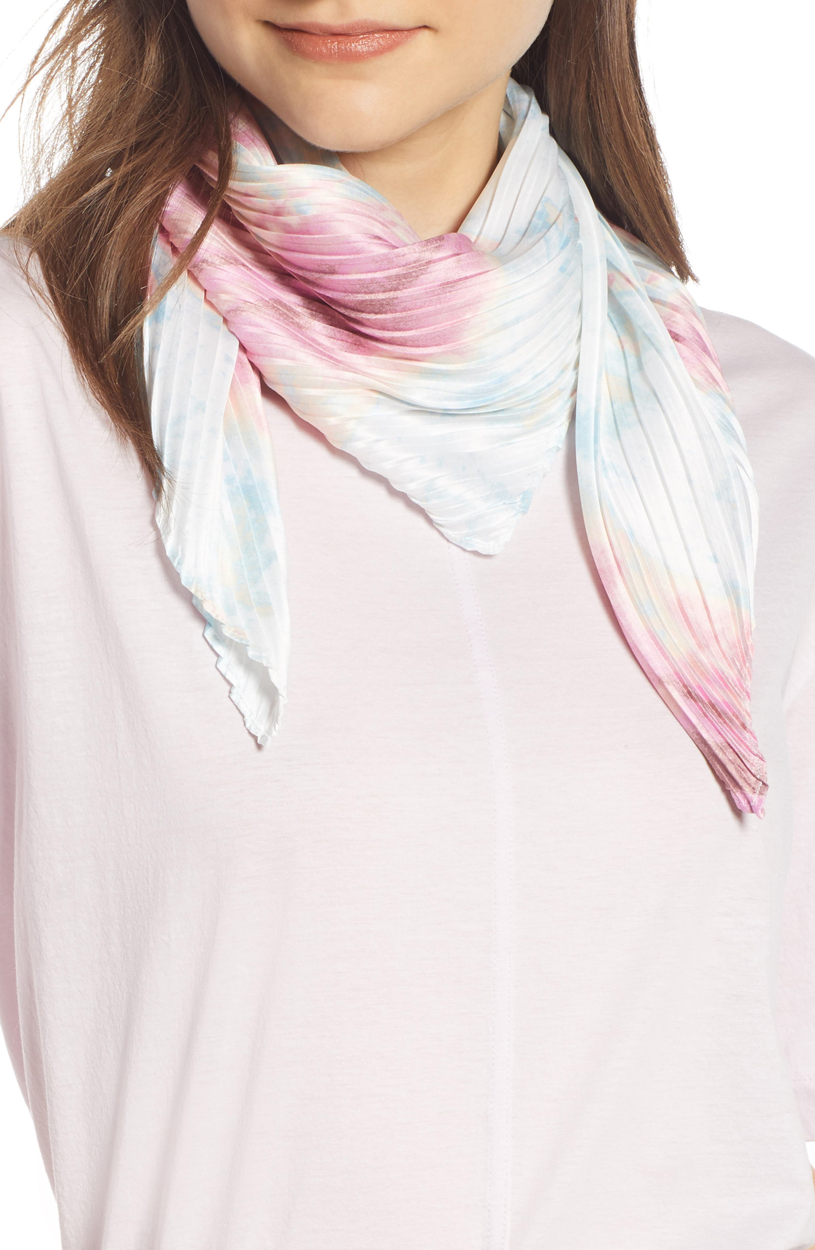 ,                             Pleated Square Scarf,                             Main thumbnail 5, color,                             680