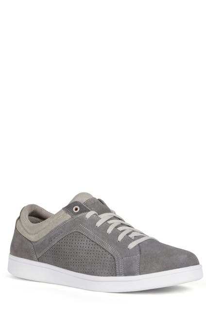 Image of GEOX Warrens Perforated Suede Sneaker