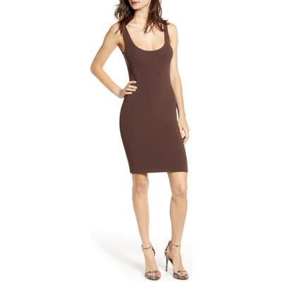 Plus Size Leith Date Night Body-Con Sweater Dress, Brown
