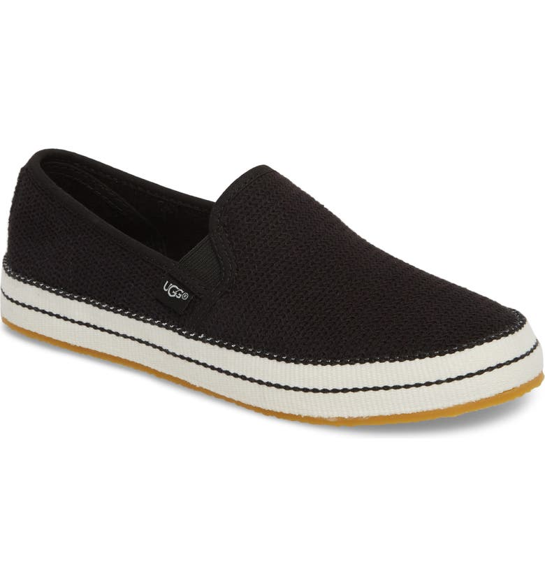 UGG<SUP>®</SUP> Bren Slip-On Sneaker, Main, color, BLACK