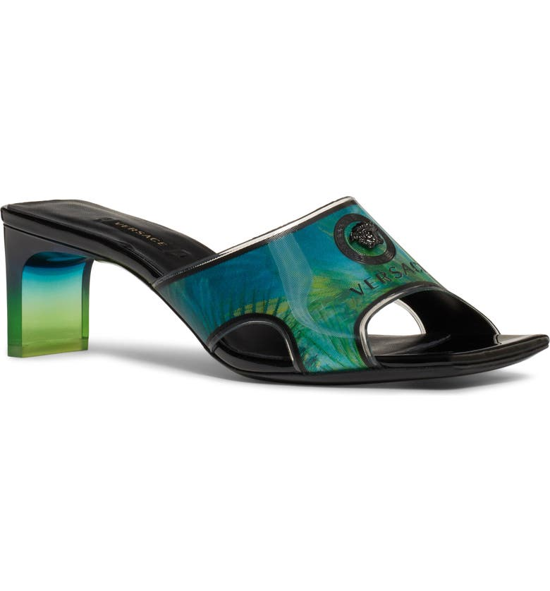 VERSACE Jungle Vynil Slide Sandal, Main, color, 399