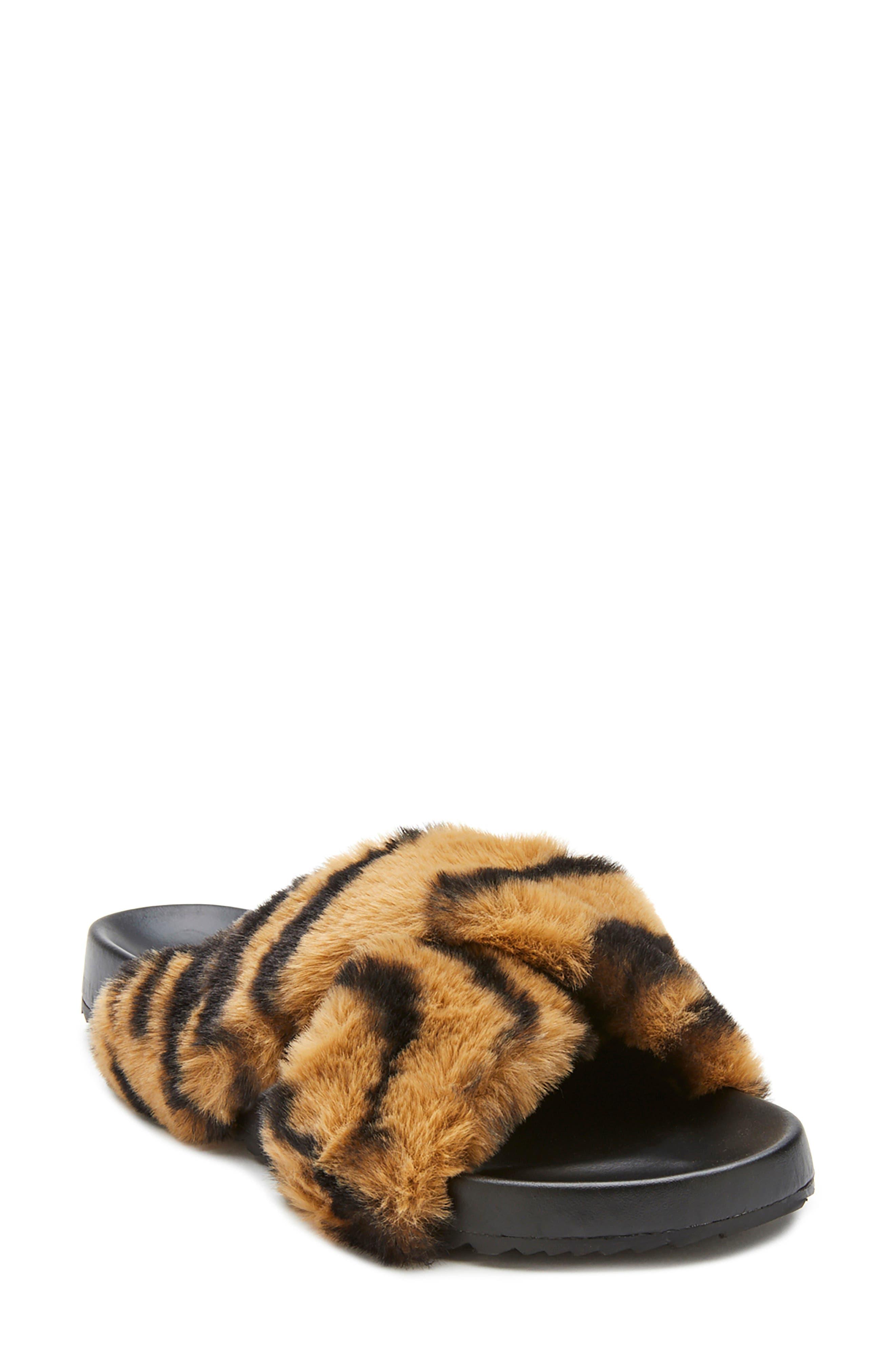 Seasons Faux Fur Slide Sandal
