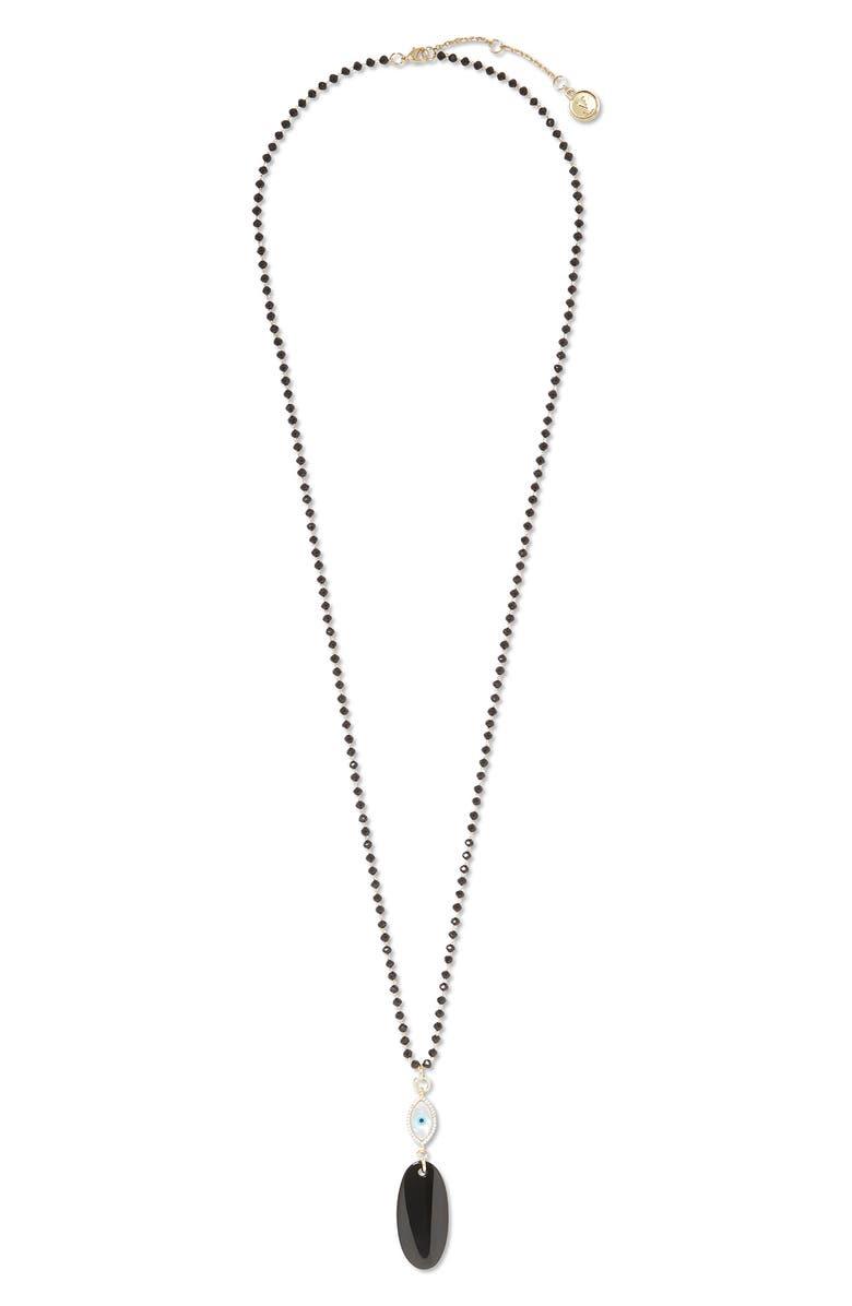 VINCE CAMUTO Evil Eye Pendant Necklace, Main, color, 001