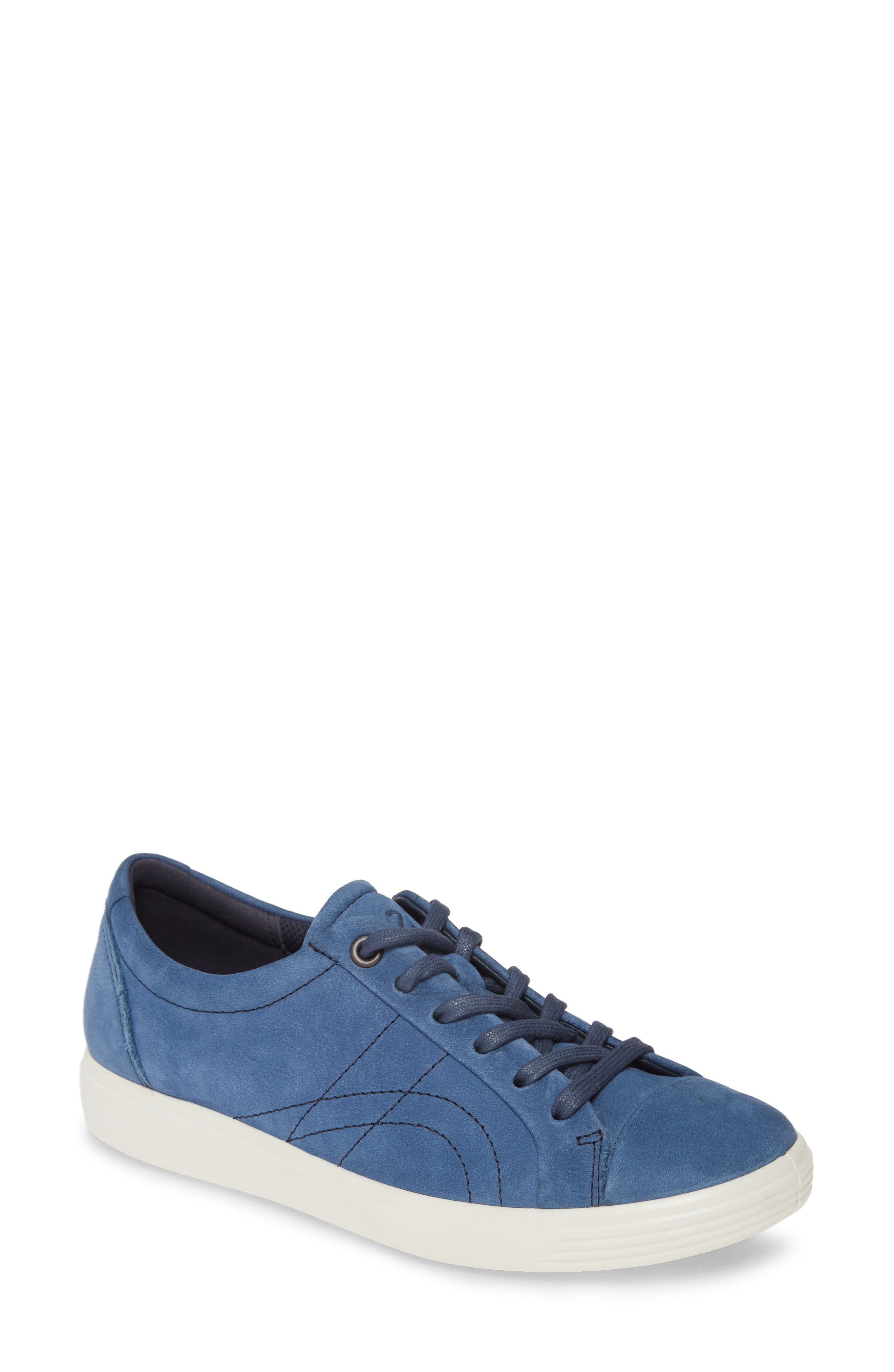 Image of ECCO Soft 7 Leather Stitched Sneaker