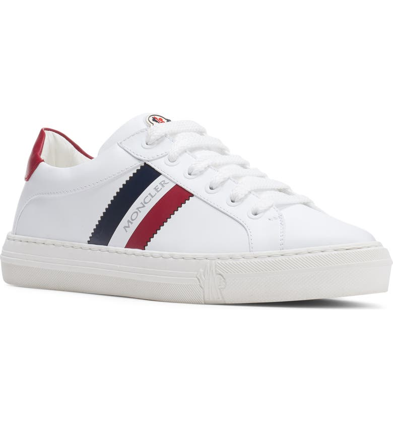 MONCLER Ariel Scarpa Low Top Sneaker, Main, color, WHITE/ BLUE/ RED