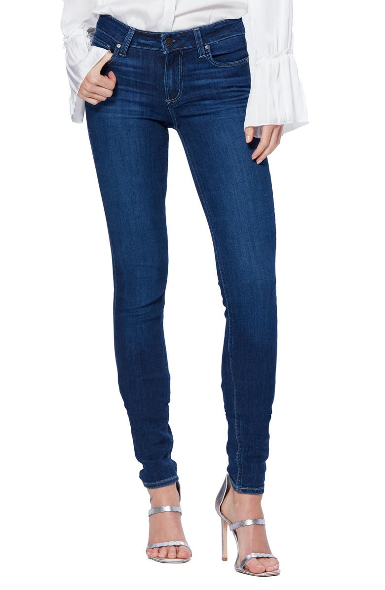 PAIGE Leggy Skinny Jeans, Main, color, BRENTWOOD