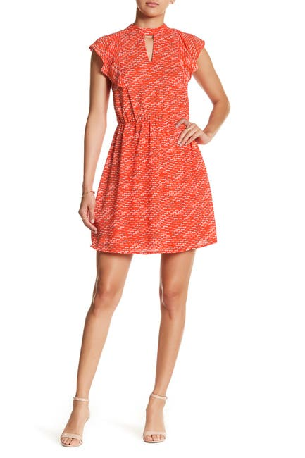 Image of Collective Concepts Keyhole Fit & Flare Dress