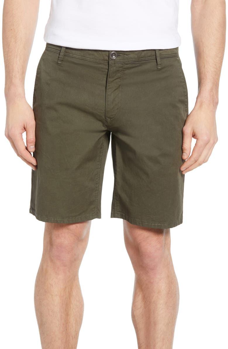 RODD & GUNN The Peaks Regular Fit Shorts, Main, color, OLIVE