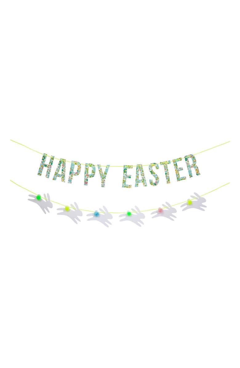 MERI MERI Liberty of London Print Bunny Easter Garland, Main, color, 401