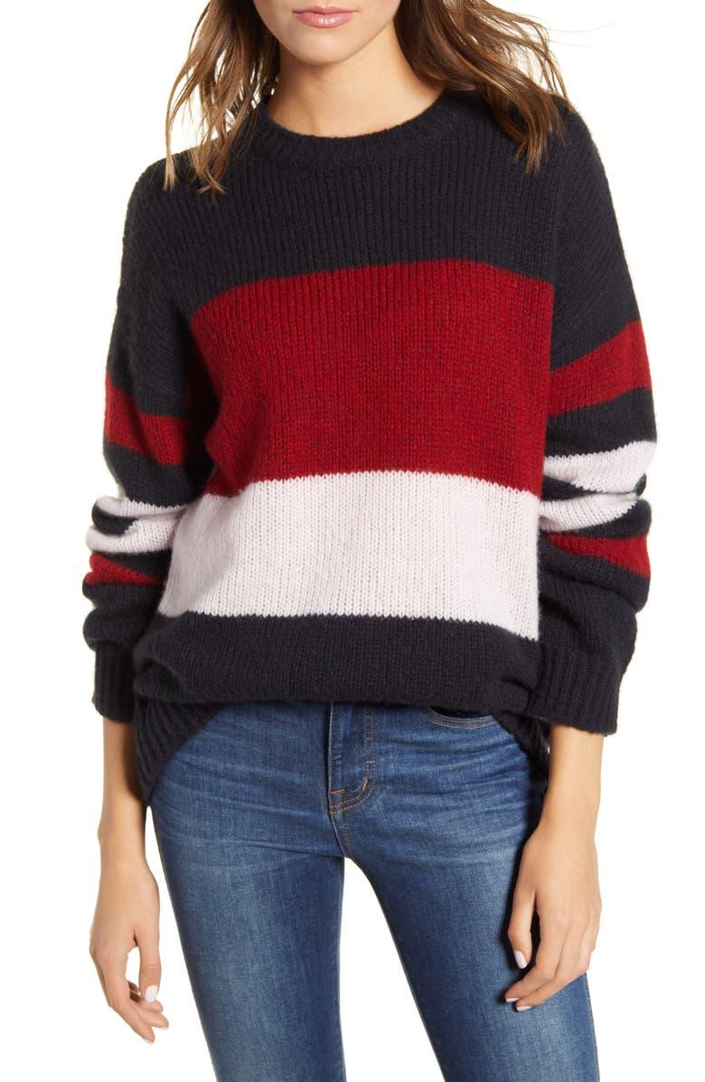RAILS Dani Colorblock Merino Wool & Cashmere Sweater, Main, color, 605