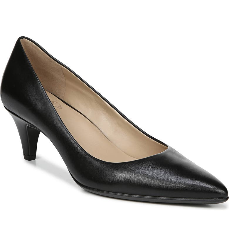 NATURALIZER Beverly Pump, Main, color, BLACK LEATHER