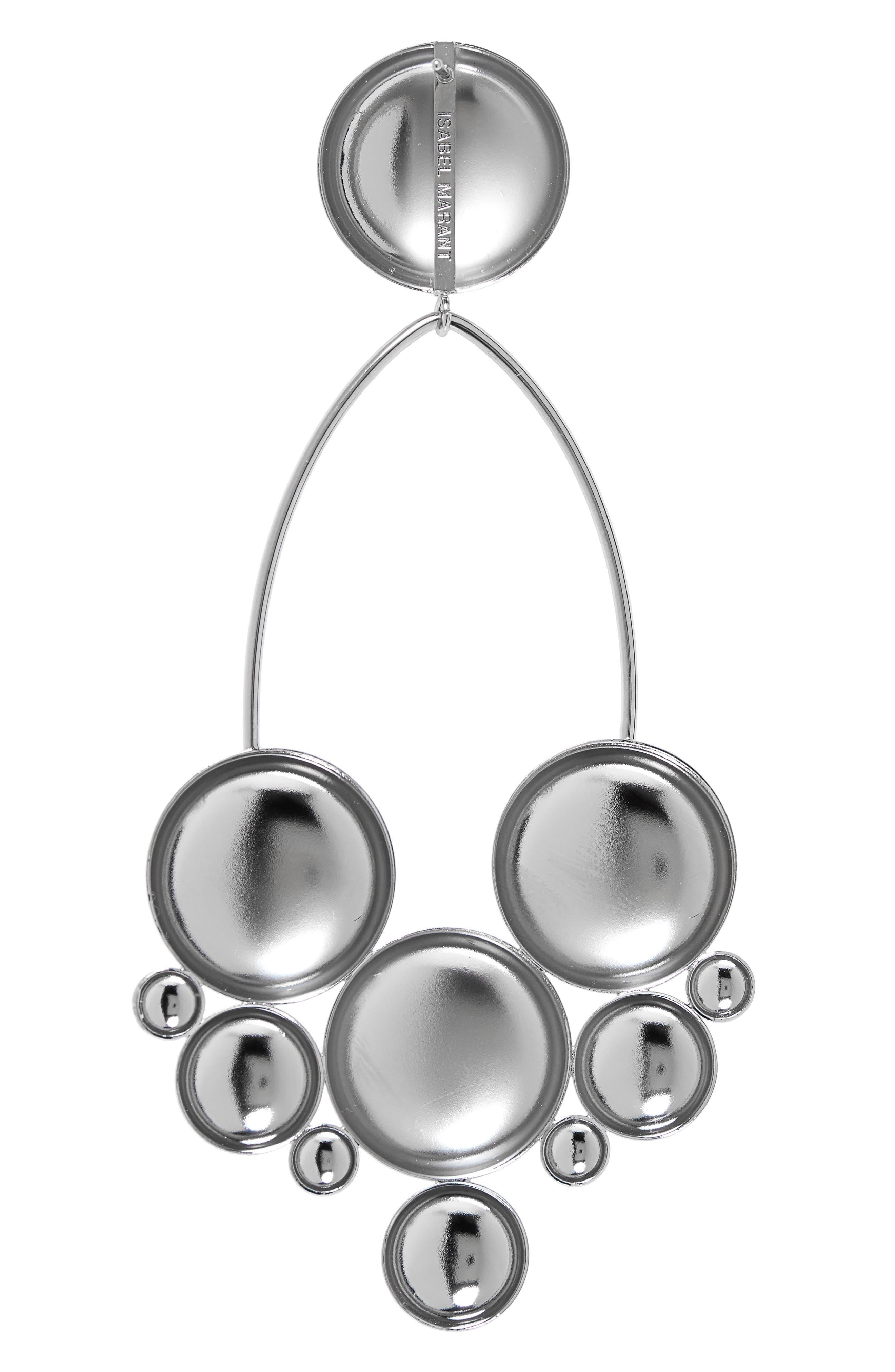 ,                             Boo Large Drop Earrings,                             Alternate thumbnail 3, color,                             SILVER