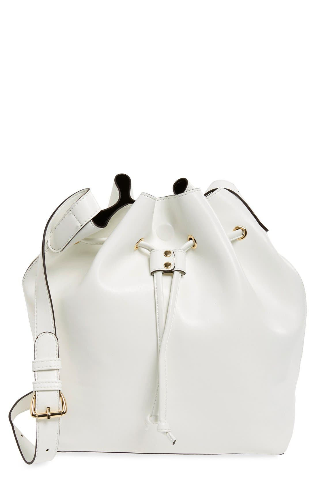 ,                             'Nevin' Faux Leather Drawstring Bucket Bag,                             Main thumbnail 11, color,                             101