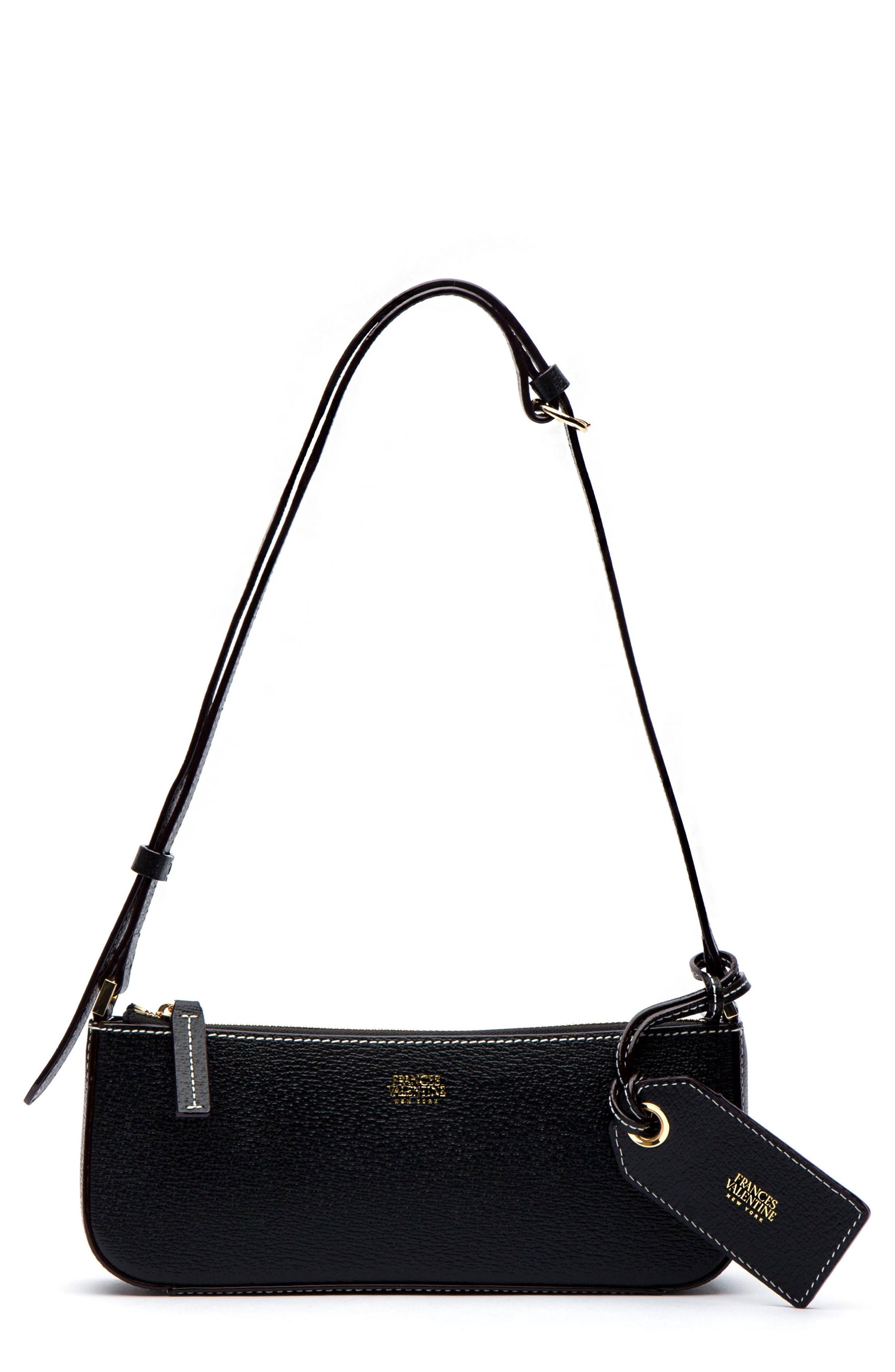 c815bfe048b40 Frances Valentine Boarskin Leather Baguette Bag - Black