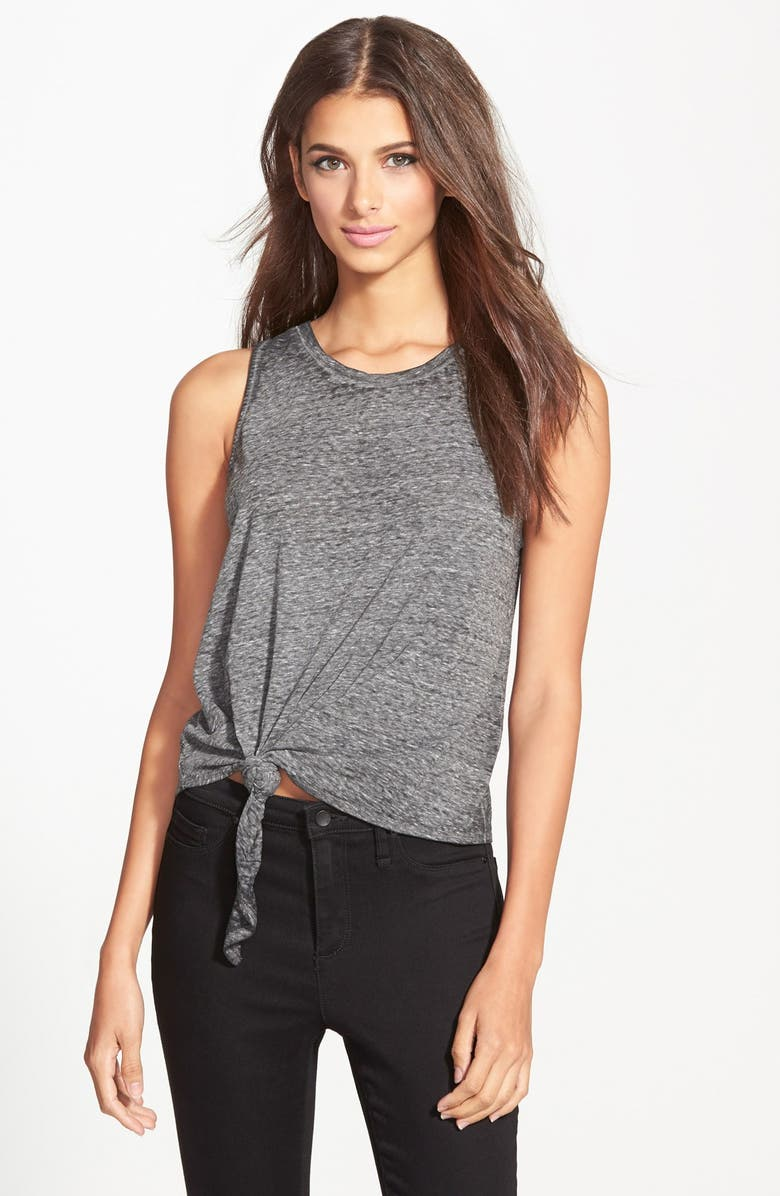 LEITH Front Knot Muscle Tee, Main, color, 030