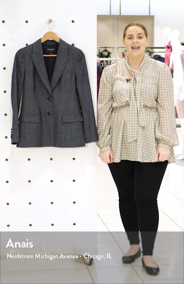 Harlow Wool Blend Blazer, sales video thumbnail