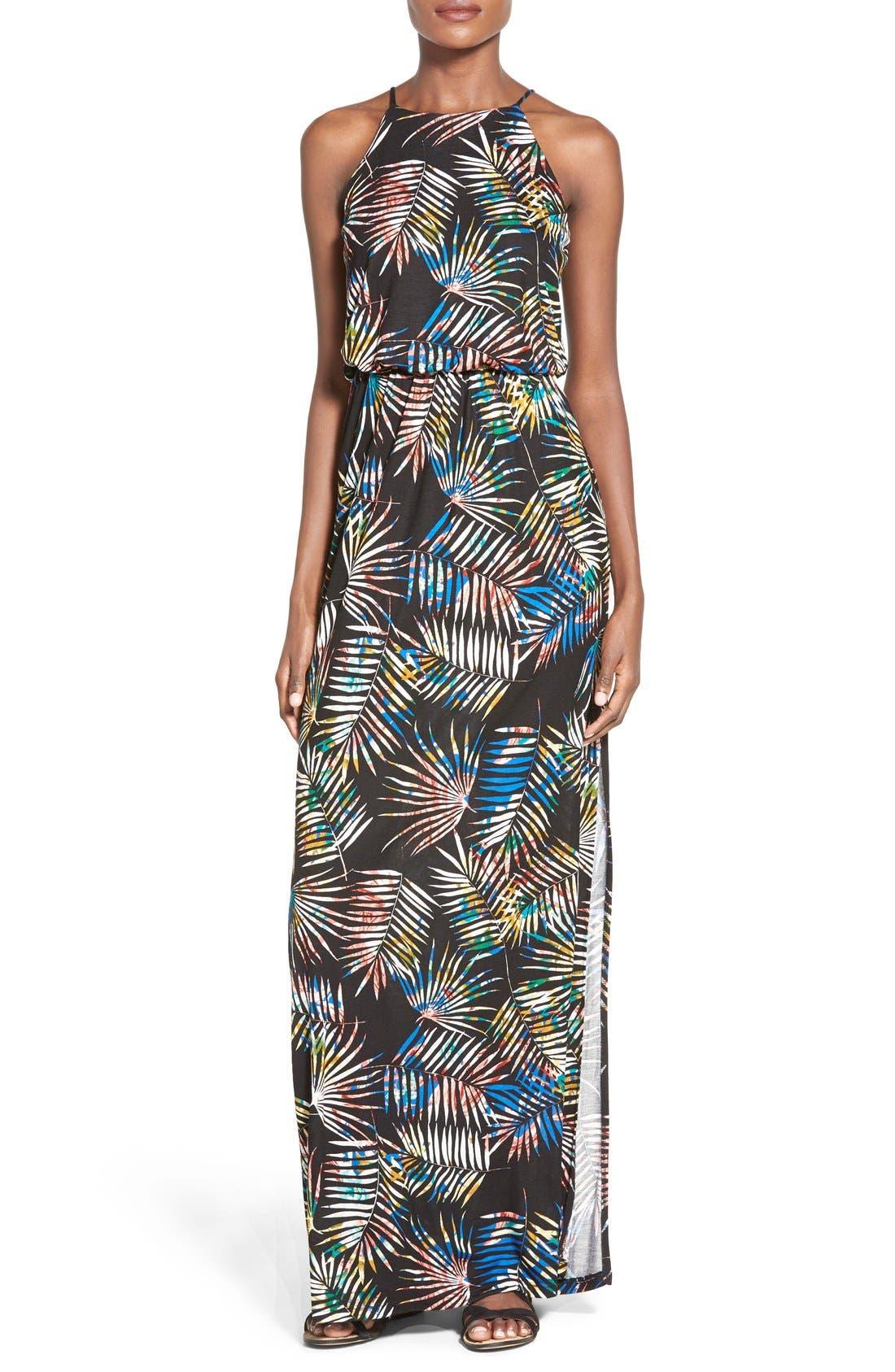 ,                             High Neck Maxi Dress,                             Main thumbnail 35, color,                             002