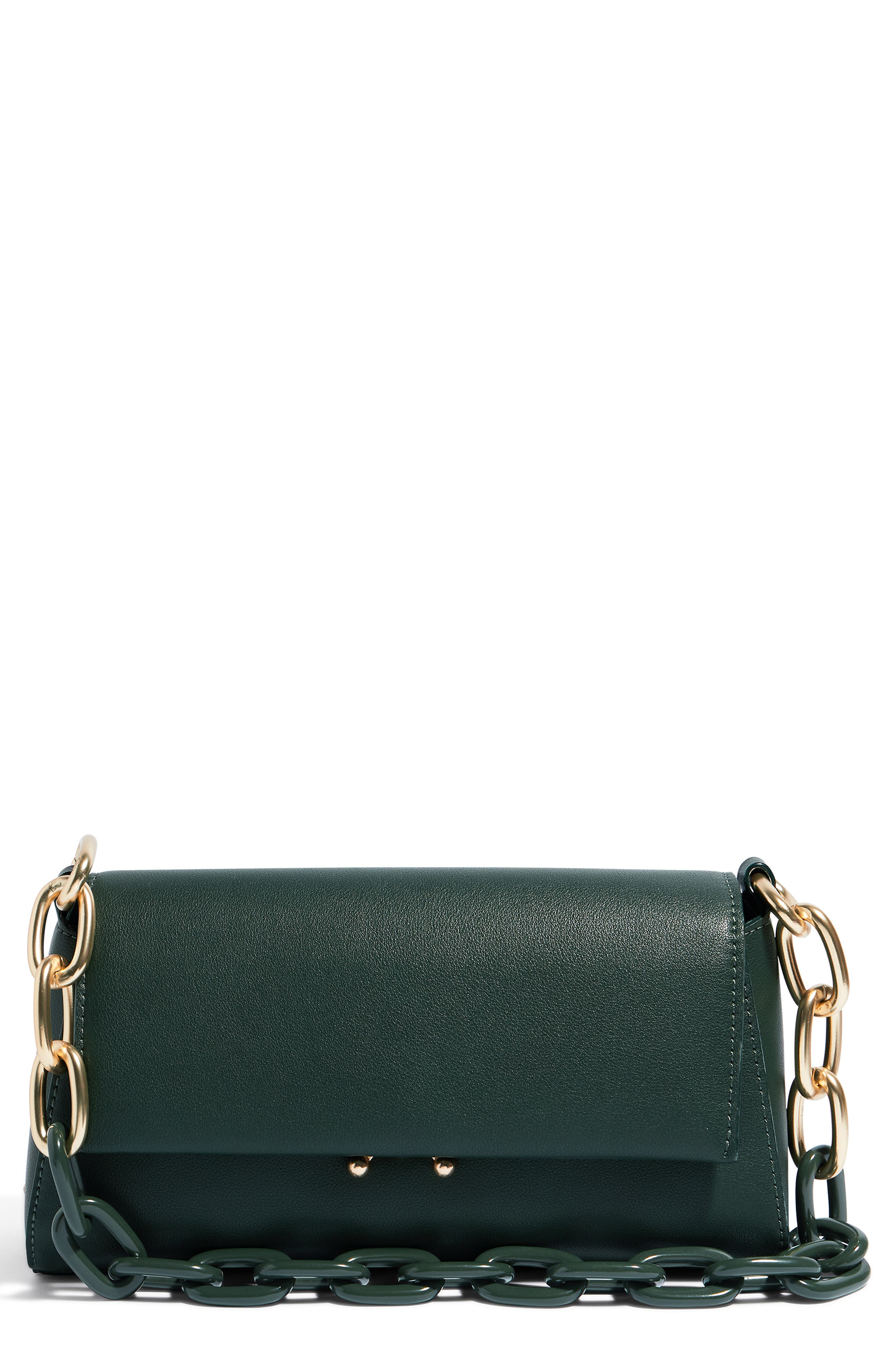 We Fashion Vegan Leather Shoulder Bag