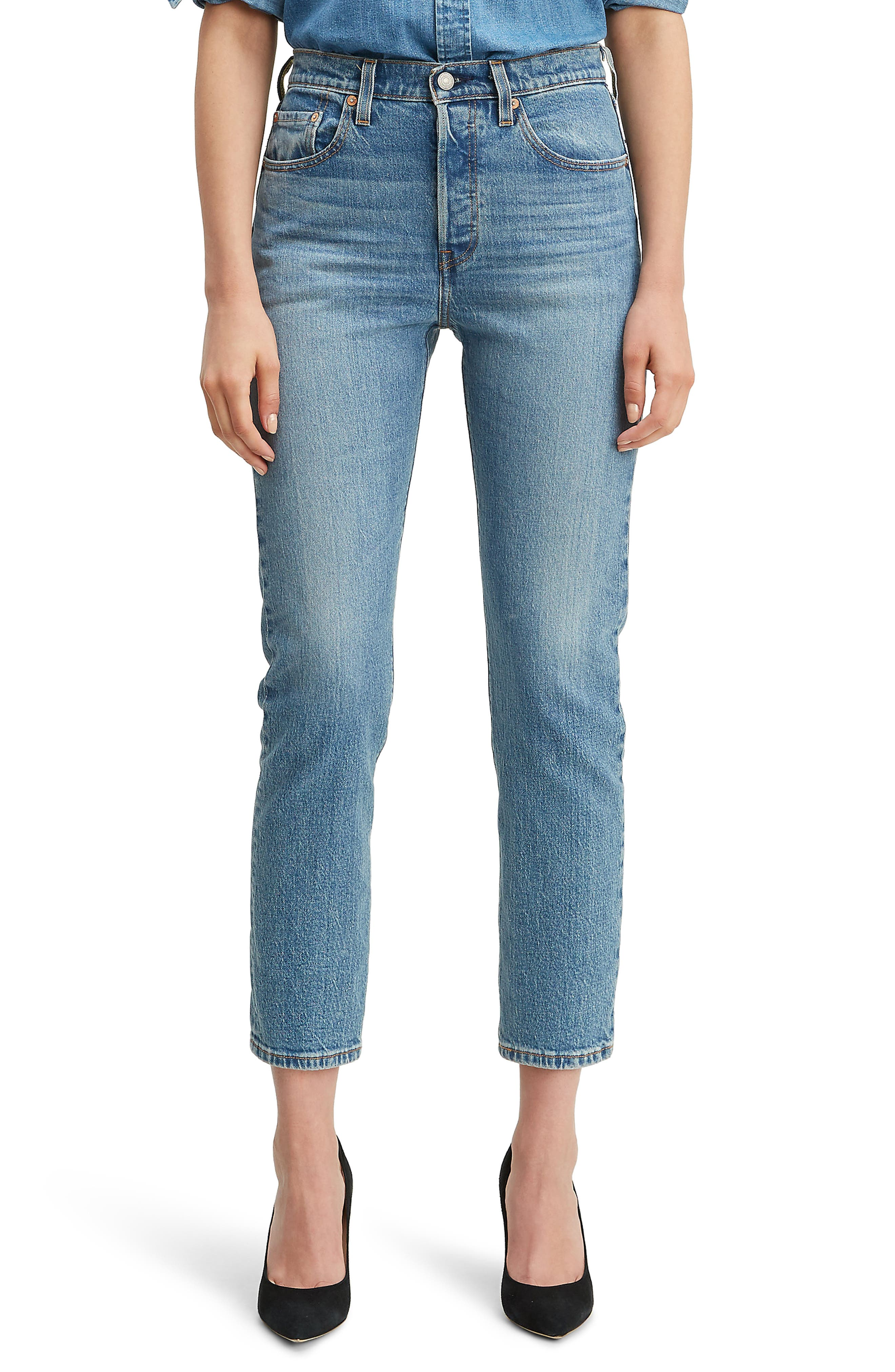 Levi's® 501® High Waist Crop Straight Leg Jeans (Jive Song)