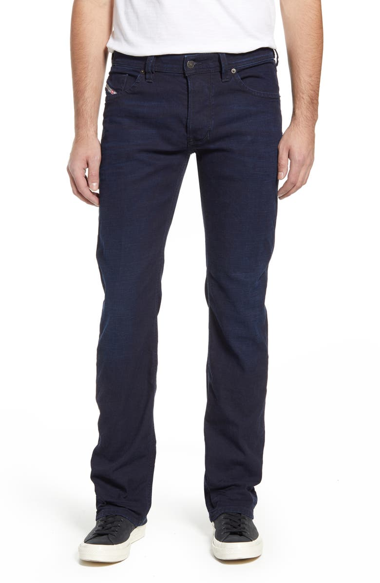 DIESEL<SUP>®</SUP> Larkee Relaxed Fit Straight Leg Jeans, Main, color, DARK BLUE