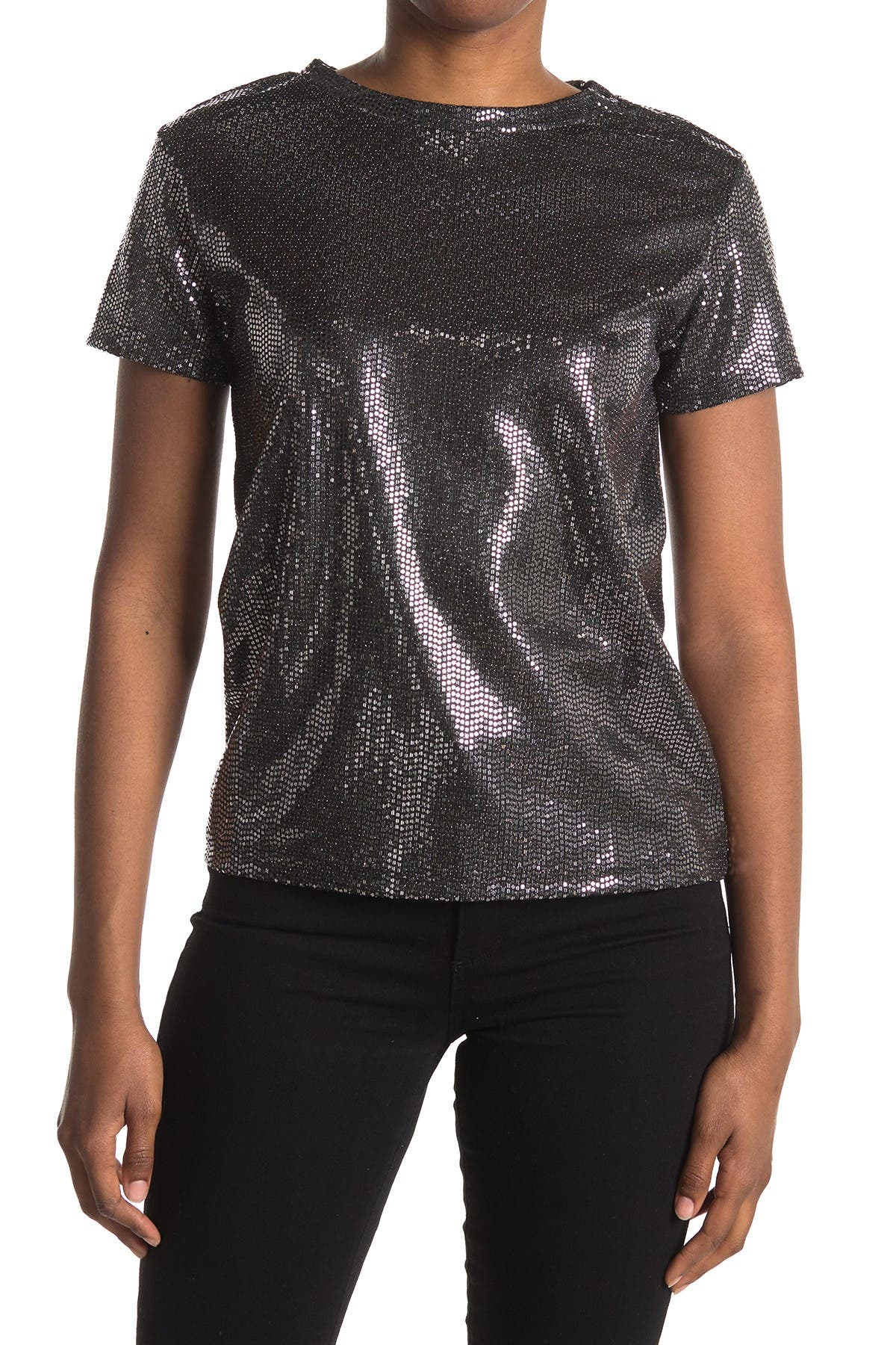 Image of BB Dakota Foiled Knit T-Shirt
