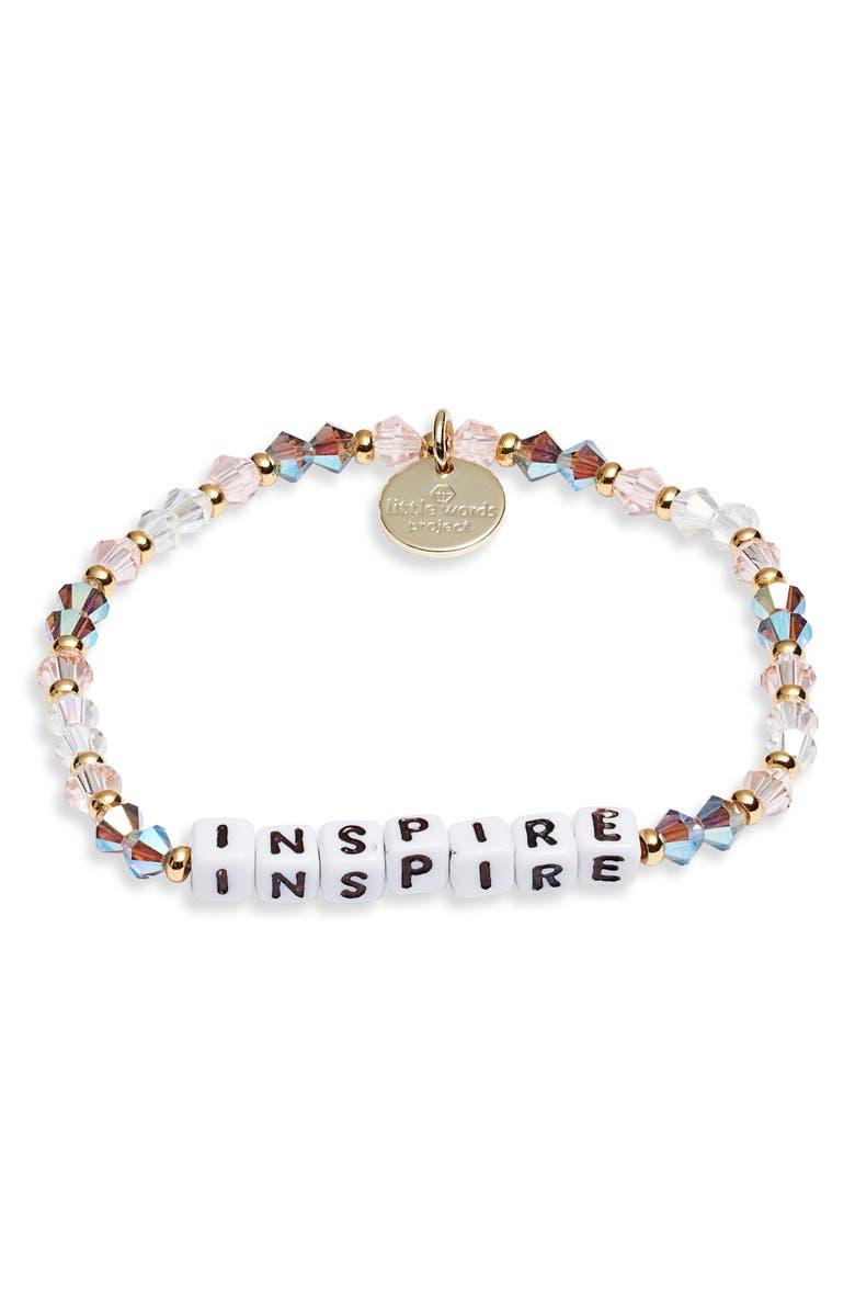 LITTLE WORDS PROJECT Inspire Bracelet, Main, color, ARROW WHITE