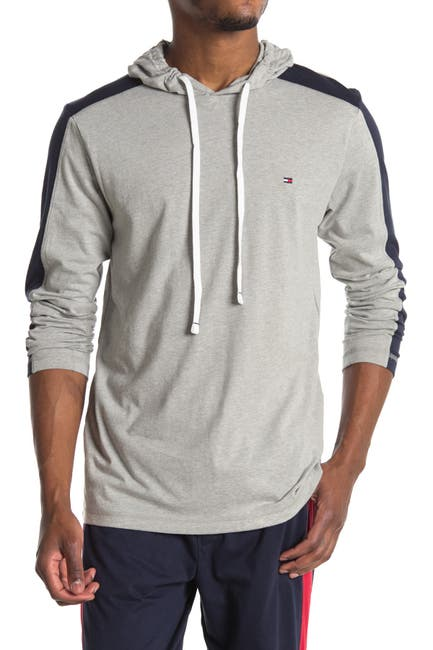 Image of Tommy Hilfiger Hooded Long Sleeve Lounge T-Shirt