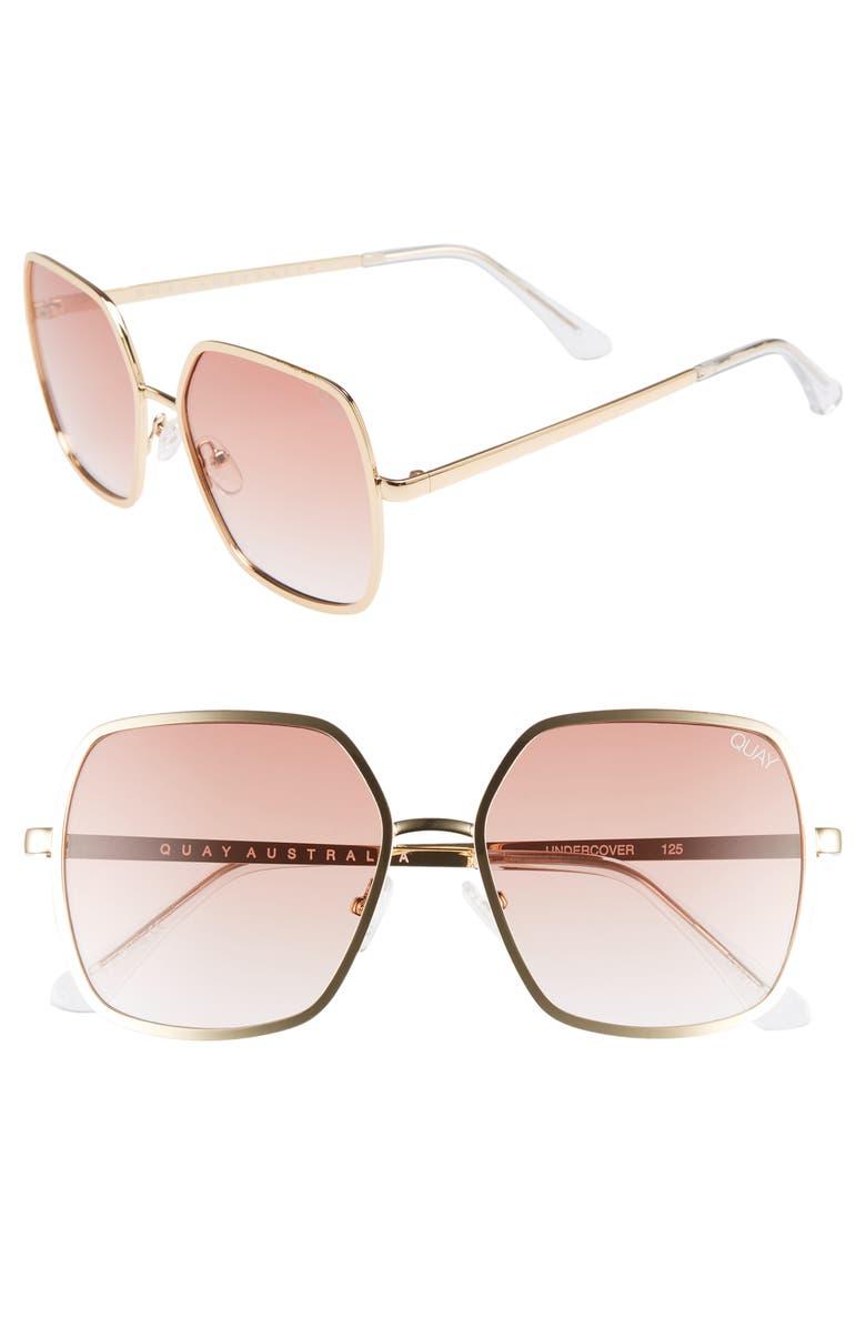 QUAY AUSTRALIA 57mm Square Sunglasses, Main, color, 710