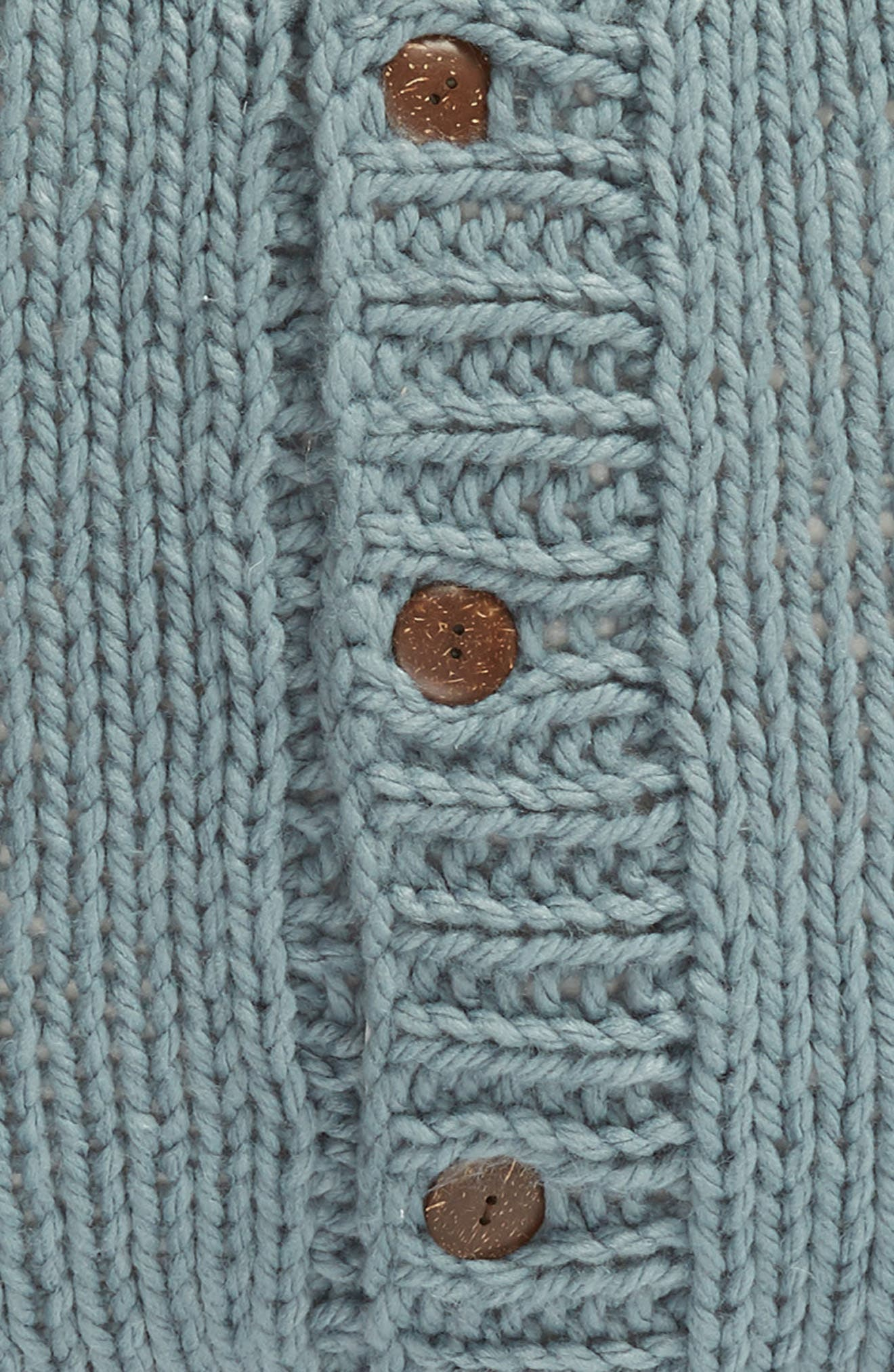 ,                             Cable Knit Accent Pillow,                             Alternate thumbnail 3, color,                             BLUE TROOPER